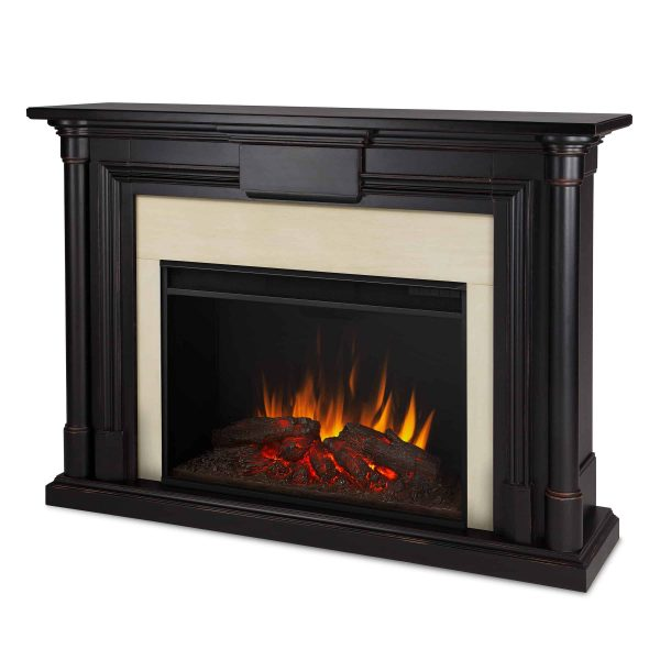 Maxwell Grand Electric Fireplace in Blackwash by Real Flame 1