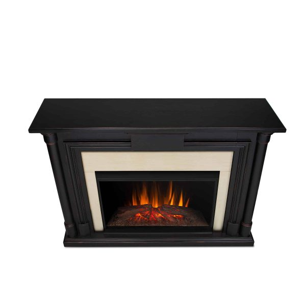 Maxwell Grand Electric Fireplace in Blackwash by Real Flame 2