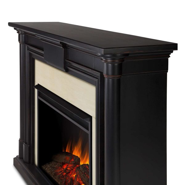 Maxwell Grand Electric Fireplace in Blackwash by Real Flame 3