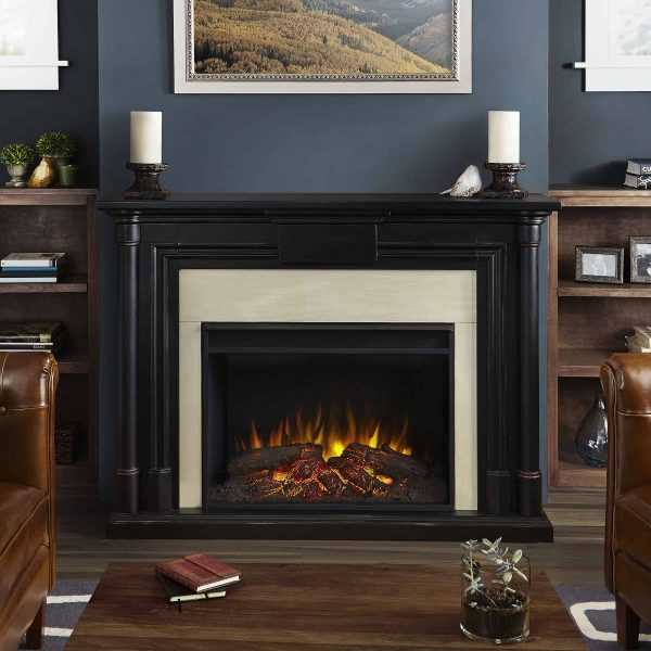 Maxwell Grand Electric Fireplace in Blackwash by Real Flame 5