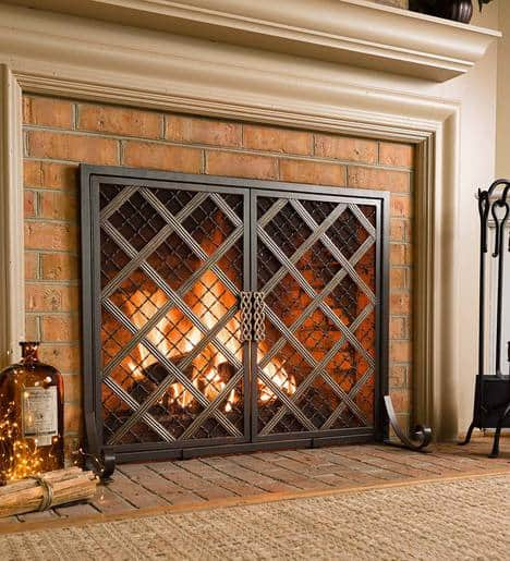 McCormick Celtic Design Small Fireplace Fire Screen 2