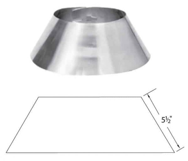 "Metalbest 10S-SC Stainless Steel Sure-Temp 10"" Class A Chimney Pipe Storm Collar"