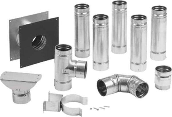 "Metalbest 3VP-KIT Stainless Steel / Galvanized Steel Painted Black Vp 3"" Inner Diameter 2"