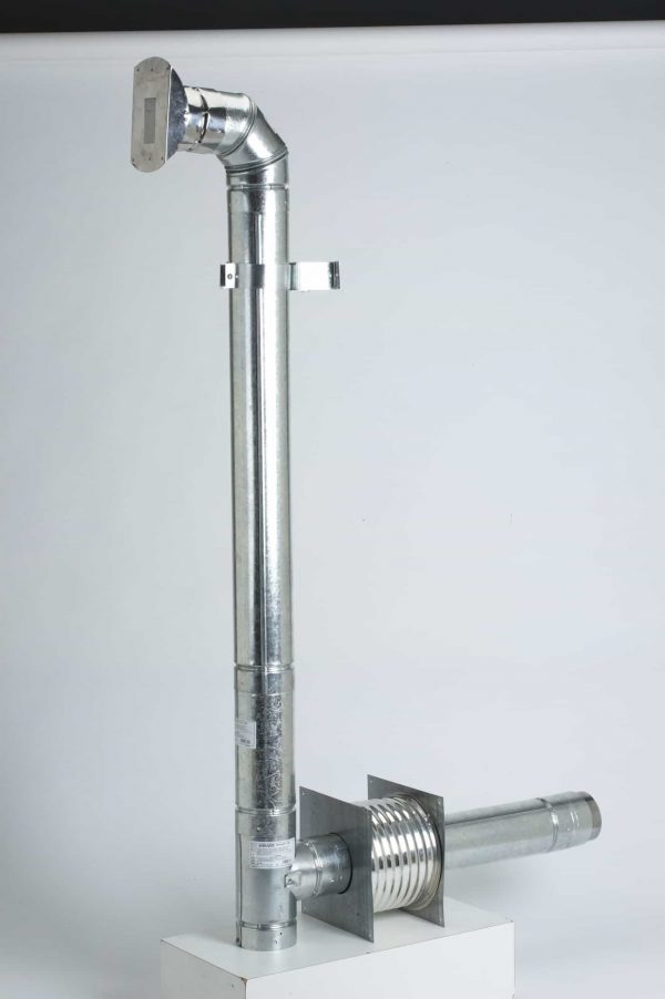 "Metalbest 3VP-KIT Stainless Steel / Galvanized Steel Painted Black Vp 3"" Inner Diameter"