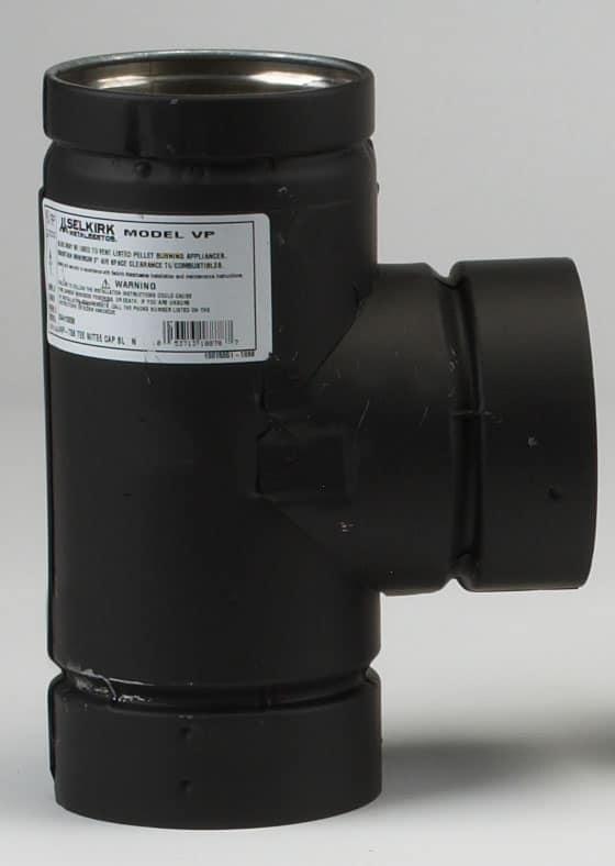 """Metalbest 3VP-TSB Black 3"""" Inner Diameter"""