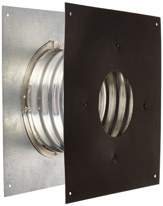 "Metalbest 3VP-WT Galvanized Vp 3"" Type L Pellet Pipe Wall Thimble 1"