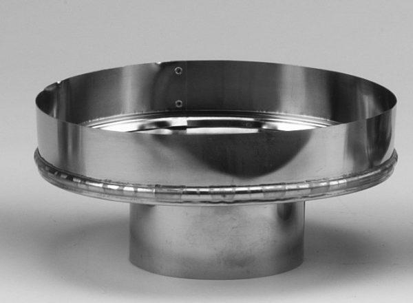 "Metalbest 4VP-A8 Galvanized Vp 4"" Type L Pellet Pipe To 8"" Chimney Adapter"