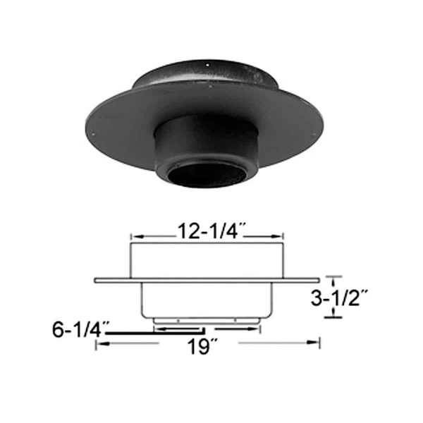 "Metalbest 6T-FSPR Stainless Steel Sure-Temp 6"" Class A Chimney Pipe Round Ceiling Support 1"