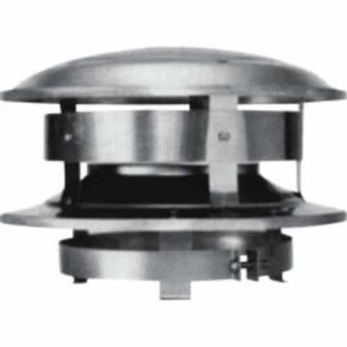 """Metalbest 7T-CT Stainless Steel Sure-Temp 7"""" Class A Chimney Pipe Round Top"""