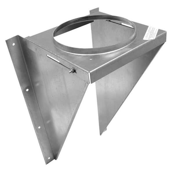 """Metalbest 7T-WSK Galvanized Sure-Temp 7"""" Class A Chimney Pipe Wall Support Kit"""