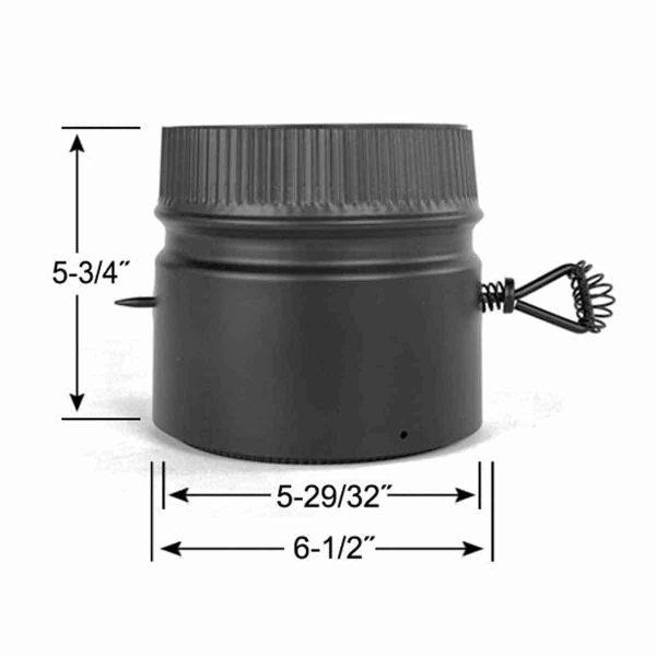 "Metalbest DSP6DK Black 6"" Inner Diameter 1"
