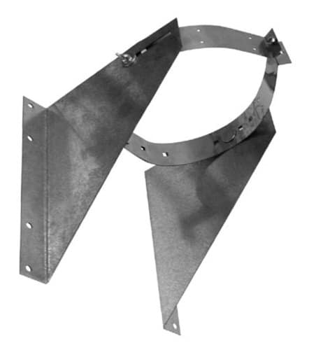 """Metalbest UWRSA Galvanized Universal Wall Support / Resupport Assembly For 5"""" To 8"""""""