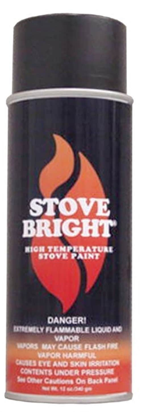 Metallic Black Stovebright Stove Paint 1