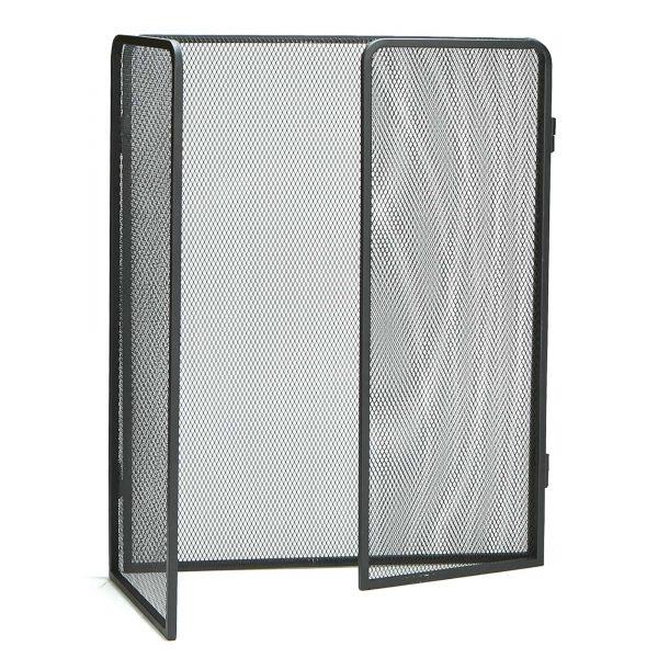 Mind Reader Room Divider 3 Panel Fire Place Screens, Black 2