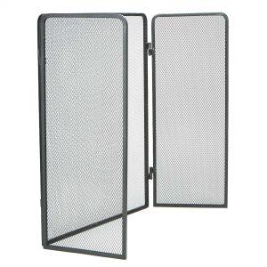 Mind Reader Room Divider 3 Panel Fire Place Screens