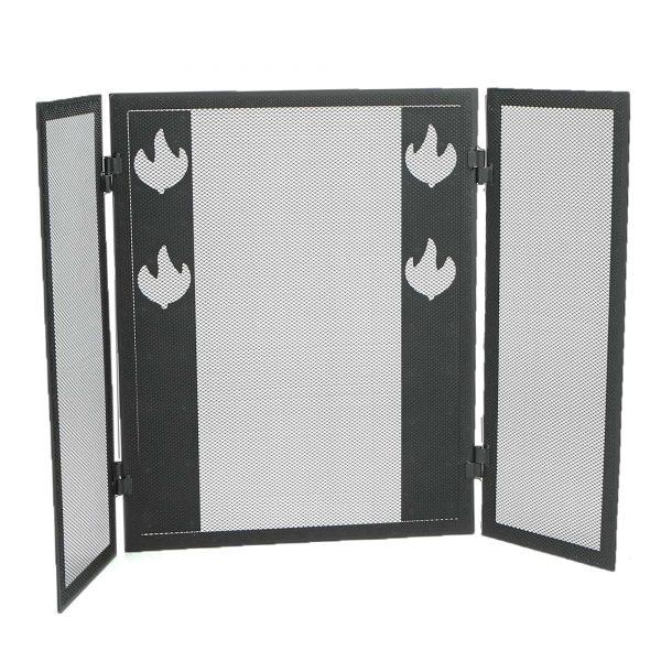 Mind Reader Room Divider 3 Panel Fireplace Screens, Black 1