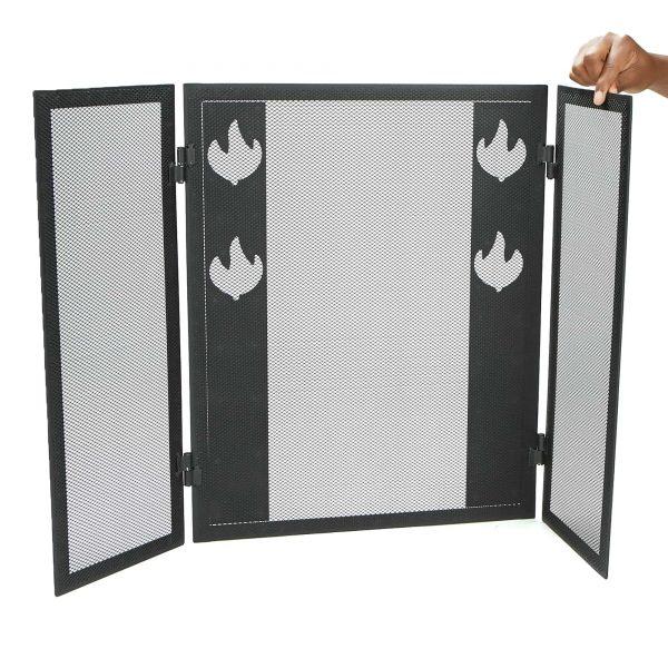 Mind Reader Room Divider 3 Panel Fireplace Screens, Black 4