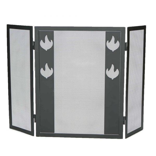 Mind Reader Room Divider 3 Panel Fireplace Screens