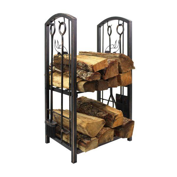 Minnesota Vikings Imperial Fireplace Wood Holder & Tool Set - Brown 1