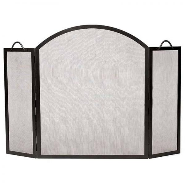 Minuteman International 3 Panel Arched Top Twisted Rope Fireplace Screen