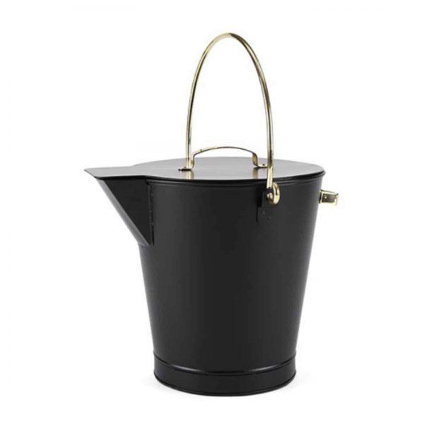 Minuteman International Ash Bucket with Brass Accents