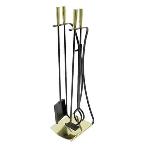 Minuteman International Park Avenue 5 Piece Iron Fireplace Tool Set 2