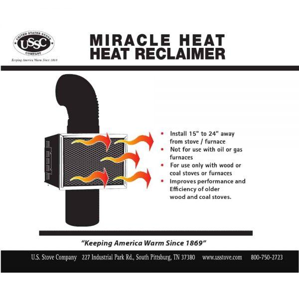 """Miracle Heat 6"""" Heat reclaimer 2"""