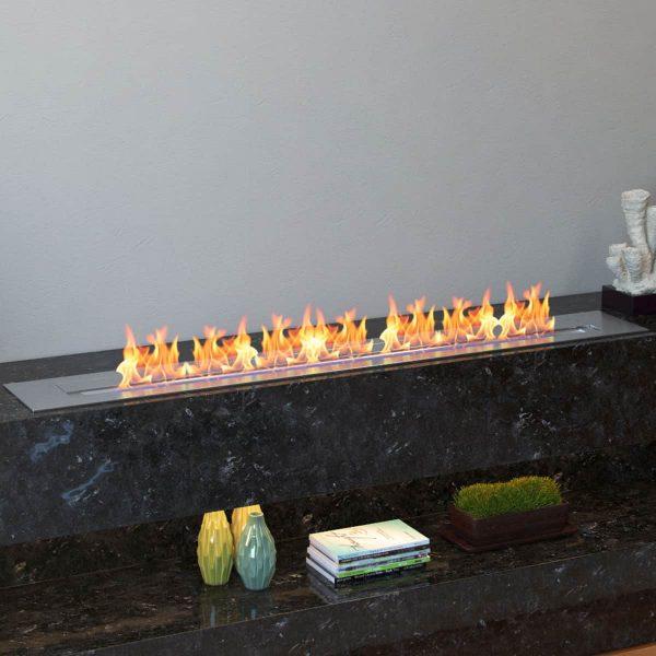 Moda Flame EBP4047-MF 47 in. 9.9 Litre Pro Bio Ethanol Fireplace Burner Insert 4