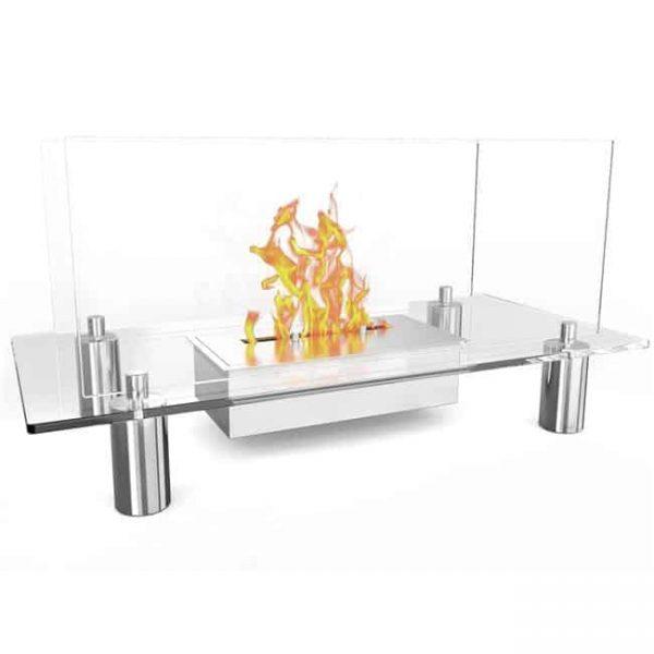 Moda Flame EF6008-MF Delano Ventless Free Standing Bio Ethanol Fireplace
