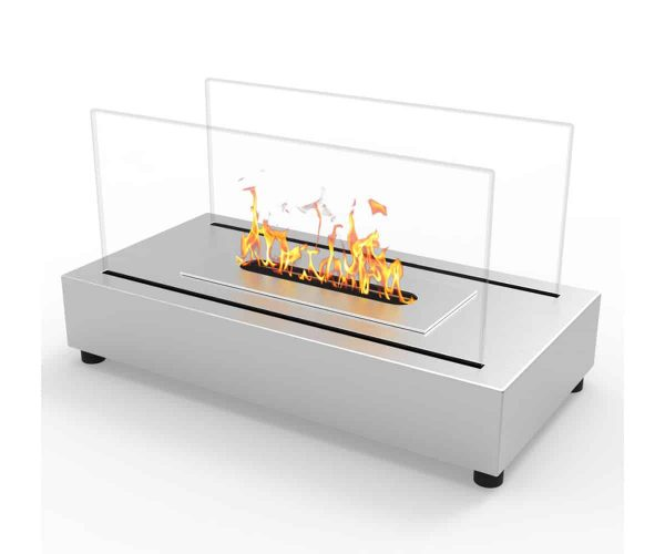 Moda Flame ET7010SS-MF Vigo Ventless Tabletop Portable Bio Ethanol Fireplace in Stainless Steel 2