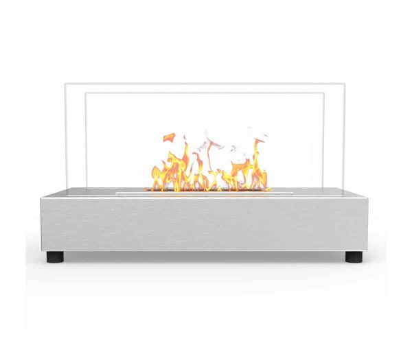 Moda Flame ET7010SS-MF Vigo Ventless Tabletop Portable Bio Ethanol Fireplace in Stainless Steel 3