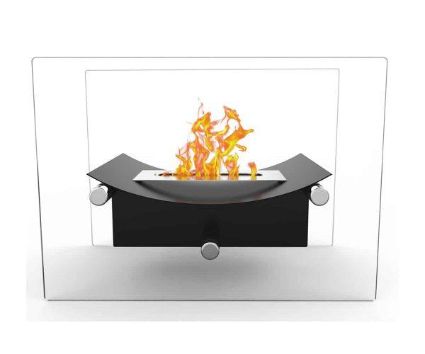 Moda Flame ET7012BLK-MF2 Arkon Tabletop Portable Bio Ethanol Fireplace - Black 1