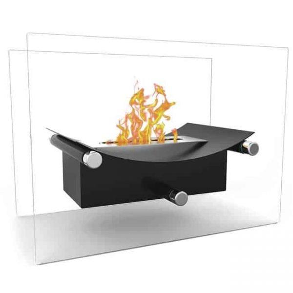 Moda Flame ET7012BLK-MF2 Arkon Tabletop Portable Bio Ethanol Fireplace - Black
