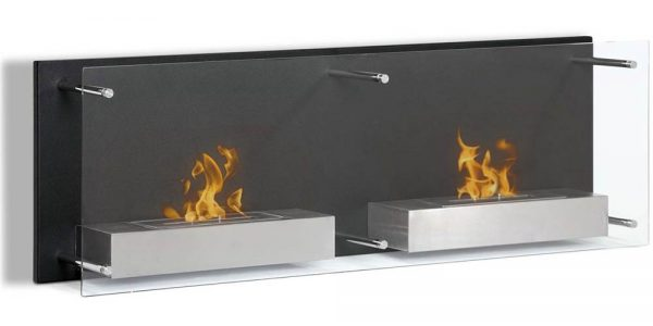 Moda Flame EW9003-MF2 47 in. Faro Ventless Wall Mounted Bio Ethanol Fireplace 1