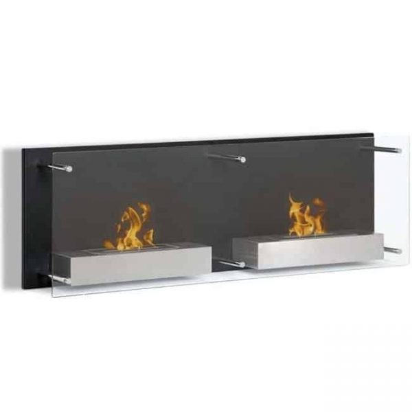 Moda Flame EW9003-MF2 47 in. Faro Ventless Wall Mounted Bio Ethanol Fireplace