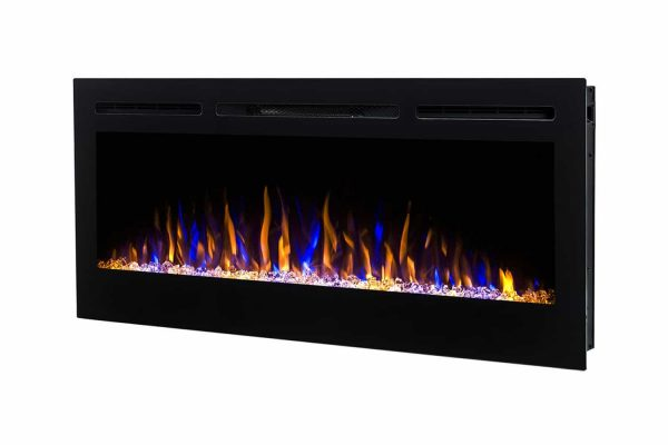 Moda Flame LW2035CC-MF 35 in. Cynergy Crystal Stone Built in Wall Mounted Electric Fireplace 2