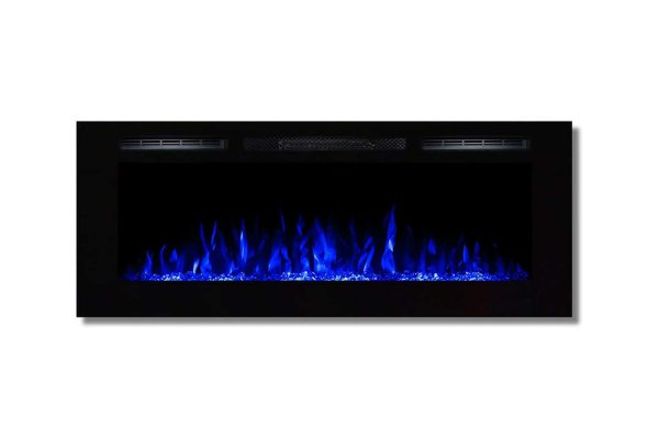 Moda Flame LW2050CC-MF 50 in. Cynergy Crystal Stone Built in Wall Mounted Electric Fireplace 1