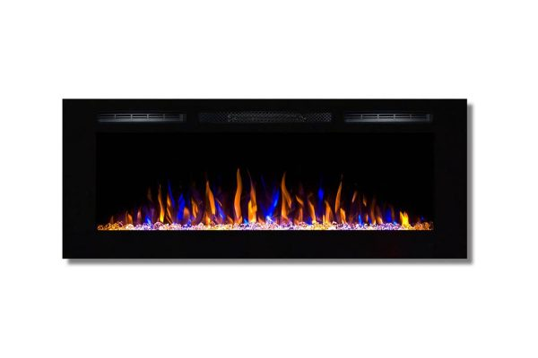 Moda Flame LW2050CC-MF 50 in. Cynergy Crystal Stone Built in Wall Mounted Electric Fireplace 2