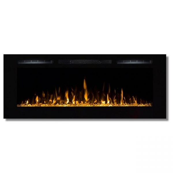 Moda Flame LW2050CC-MF 50 in. Cynergy Crystal Stone Built in Wall Mounted Electric Fireplace