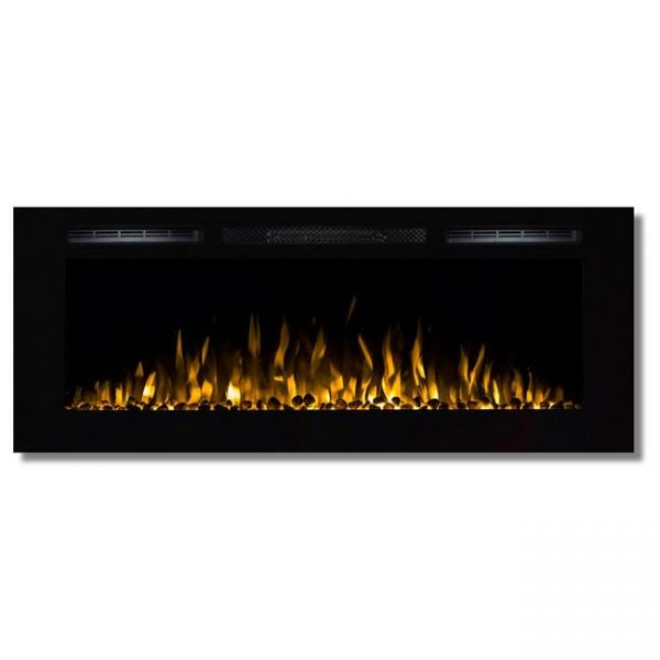 Moda Flame LW2050WS-MF 50 in. MFE5048WS Cynergy Built-in Wall Mounted Electric Fireplace - Pebble Stone