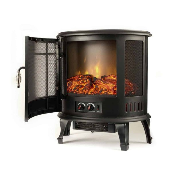 Moda Flame LW8050CRV-MF 22 in. Heater Vent Free Curved Electric Fireplace Stove 1