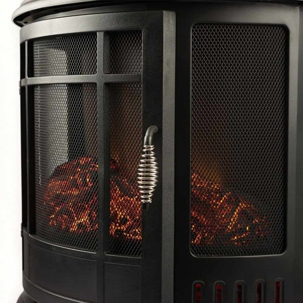 Moda Flame LW8050CRV-MF 22 in. Heater Vent Free Curved Electric Fireplace Stove 3