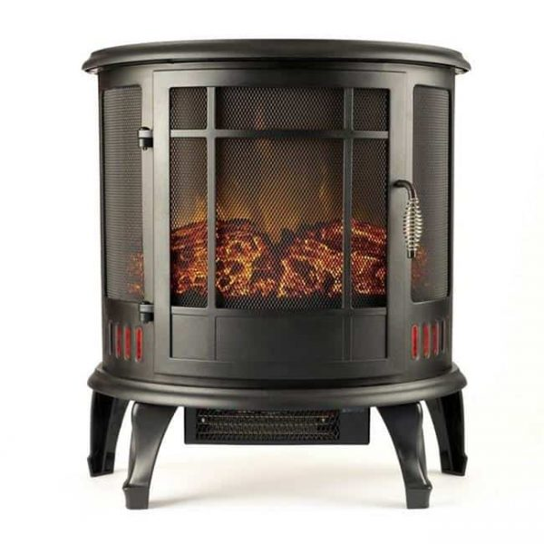 Moda Flame LW8050CRV-MF 22 in. Heater Vent Free Curved Electric Fireplace Stove