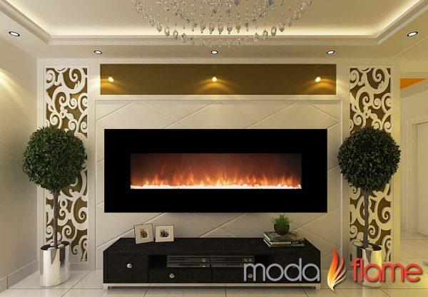 """Moda Flame MFE5072LE 72"""" Skyline Linear Wall Mounted Electric Fireplace - Log 1"""