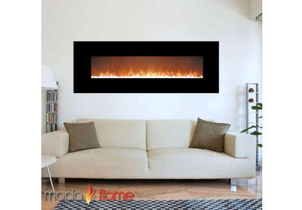 """Moda Flame MFE5072LE 72"""" Skyline Linear Wall Mounted Electric Fireplace - Log 2"""