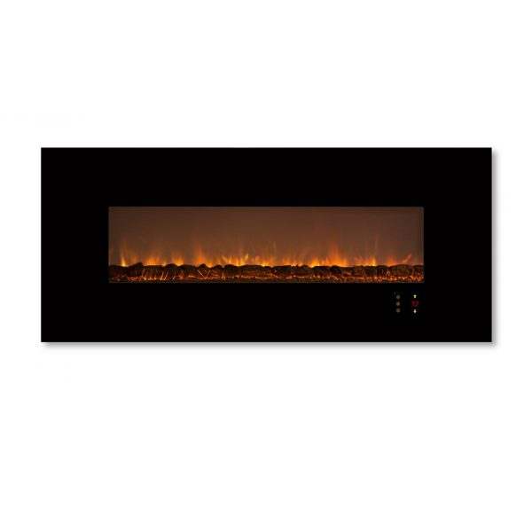 Modern Flames Ambiance CLX2 60-Inch Built-In Electric Fireplace With Black Glass Front 1