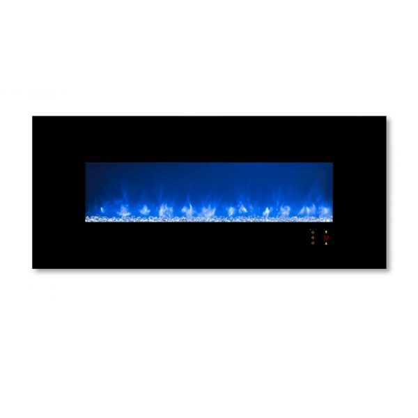 Modern Flames Ambiance CLX2 60-Inch Built-In Electric Fireplace With Black Glass Front 2
