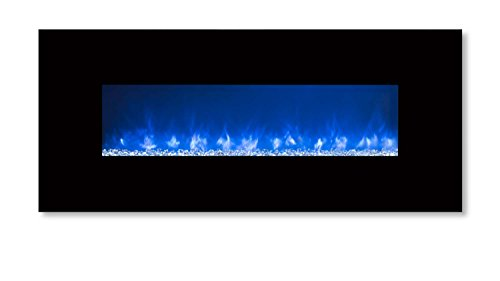Modern Flames CLX-2 Series Electric Fireplace with Black Glass Front