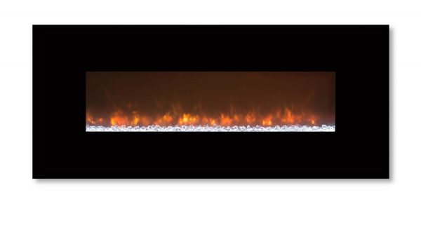 Modern Flames CLX-2 Series Electric Fireplace with Black Glass Front, 80-Inch 1