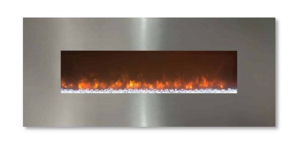 Modern Flames CLX-2 Series Electric Fireplace with Stainless Steel Front, 80-Inch 1